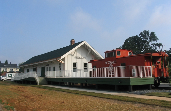 Award Winning Matthews Train Station Historical Restoration and Commercial Renovation